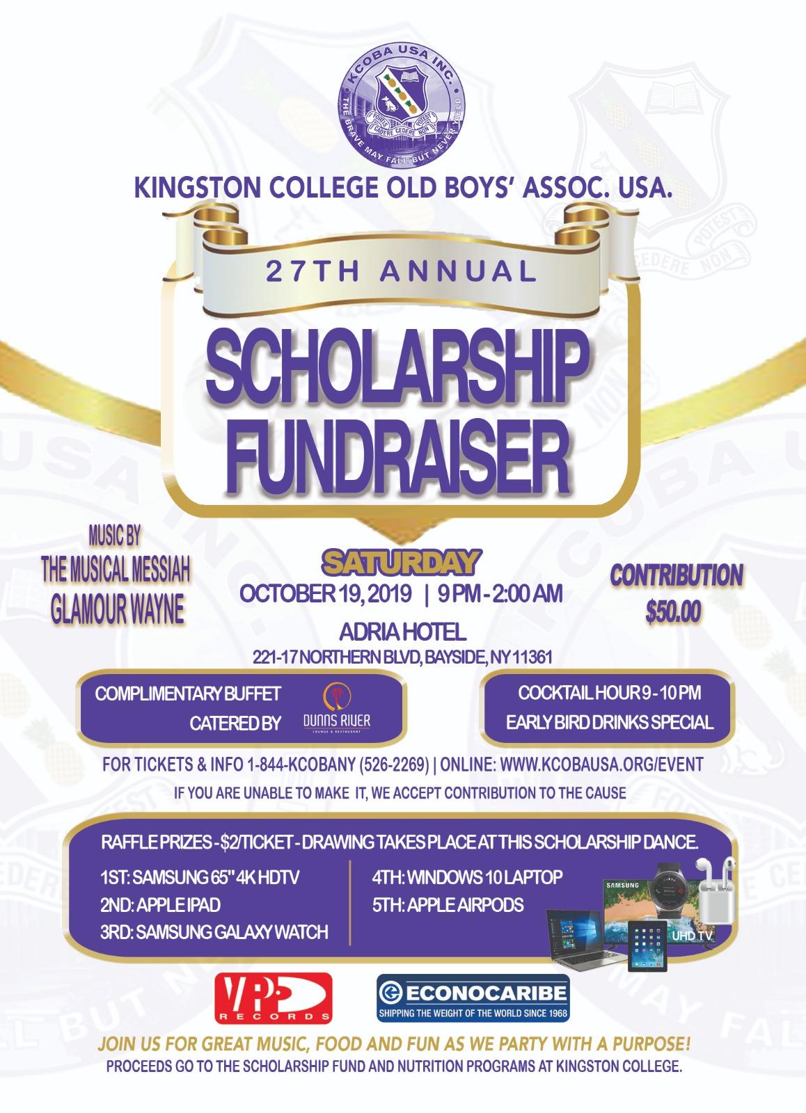27th Scholarship Fundraising Dance