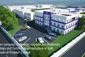 Join our campaign to develop, upgrade and modernize the Library and Technology infrastructure on both campuses at Kingston College